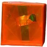 Cube Orange bague